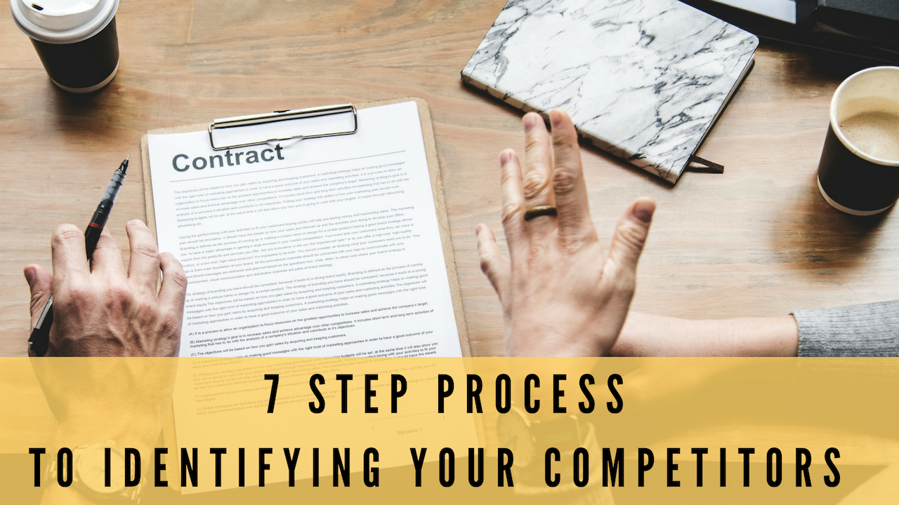 7 Steps To Identifying Competitors In Your Marketing