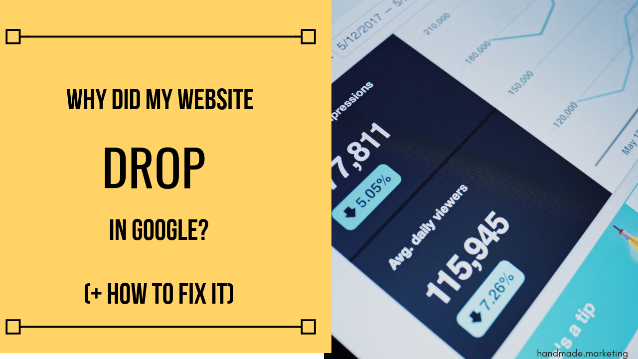 Why Did My Website Drop in Google? (+ How to Fix It)