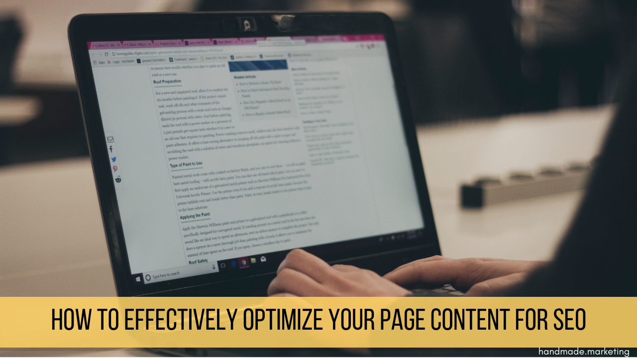 5 Steps to Optimizing Your Page Content for SEO (Checklist Included!)