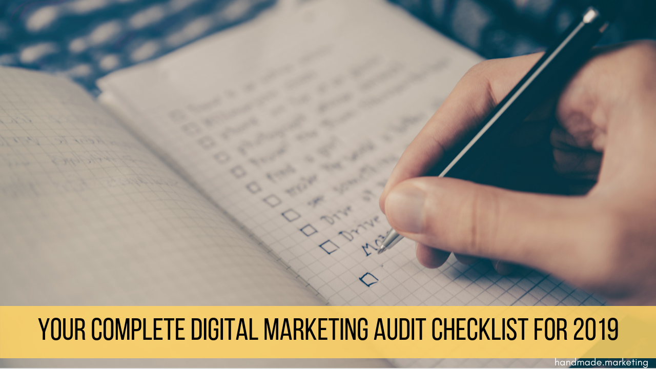 digital marketing audit checklist | Handmade SEO